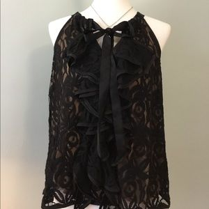 Black Lacey top, large fully lined!